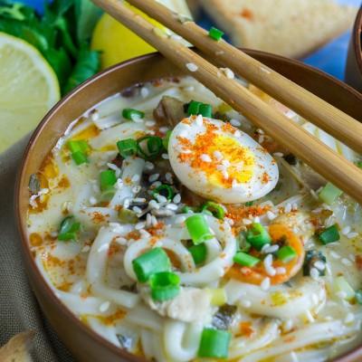 Quail Egg Noodle Soup