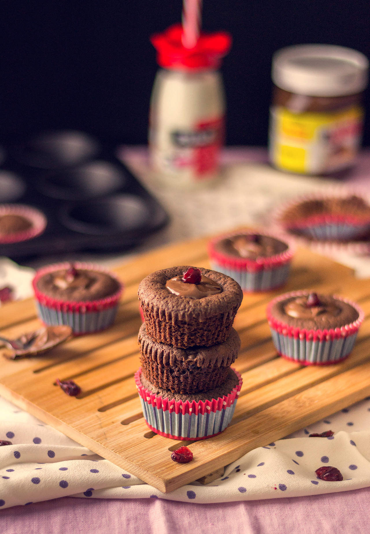 Cranberry Nutella muffins. The sweetest muffins ever!