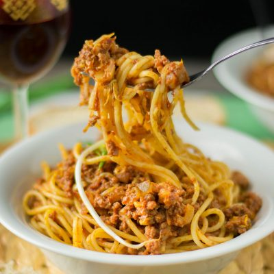 Soy Sprouts Spaghetti Bolognese